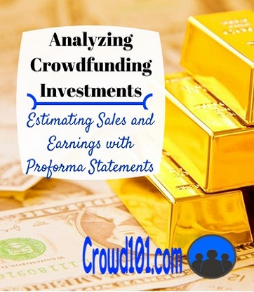 equity crowdfunding investments proforma estimates