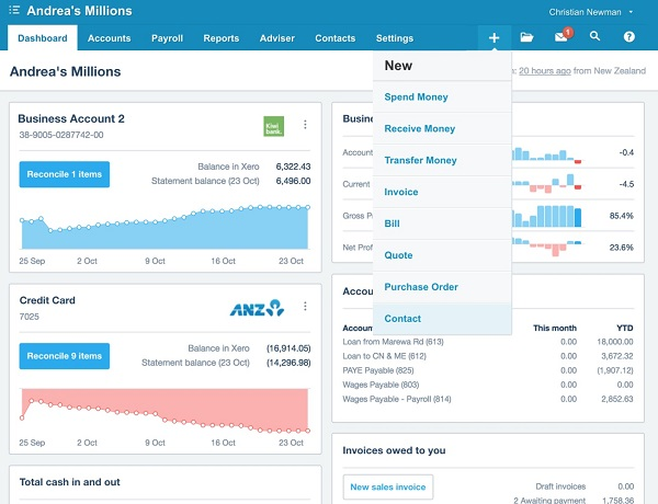 xero all-in-one accounting solution