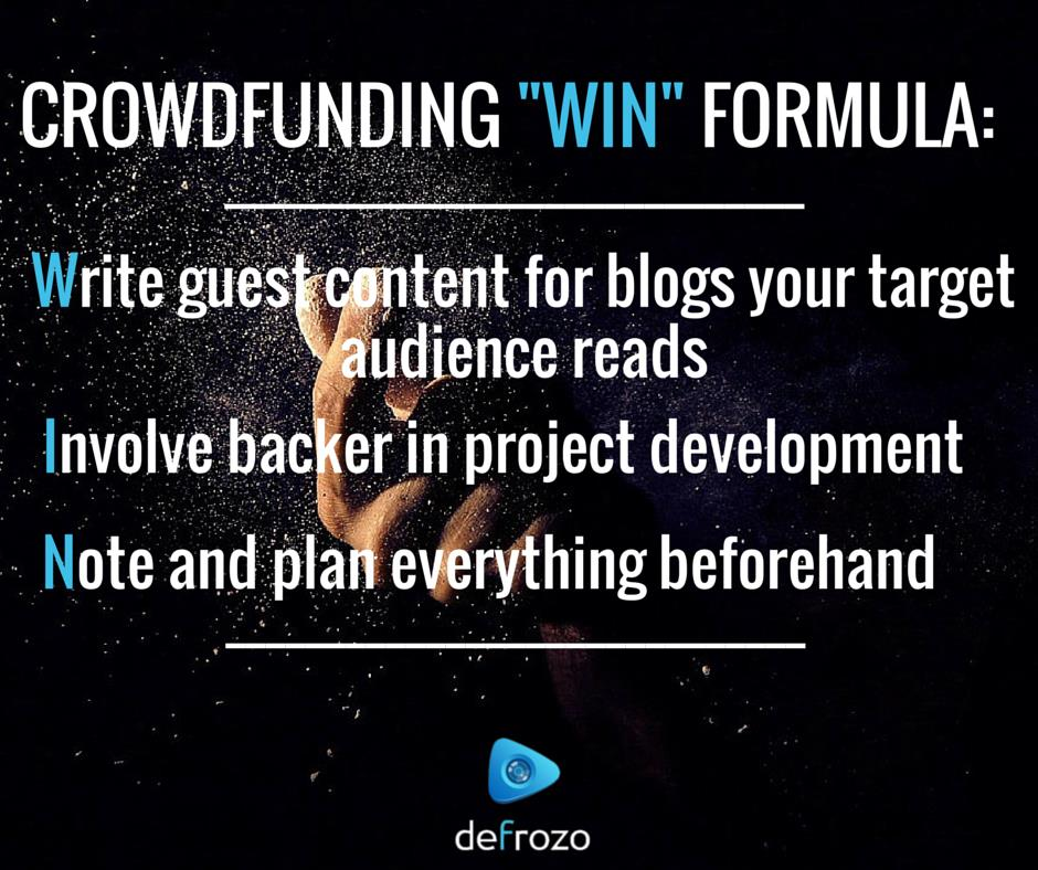 Crowdfunding Best Practices Formula