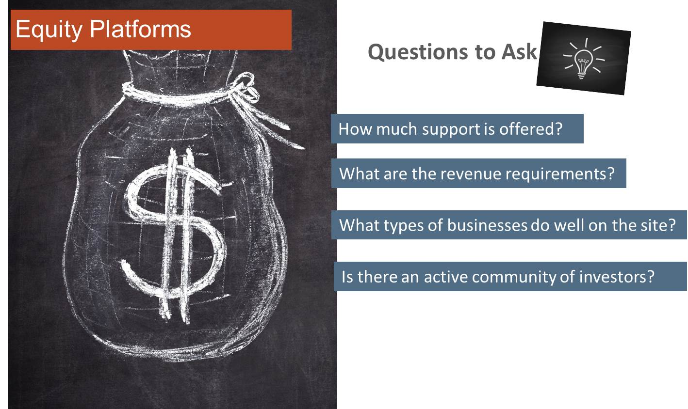Equity Crowdfunding Questions