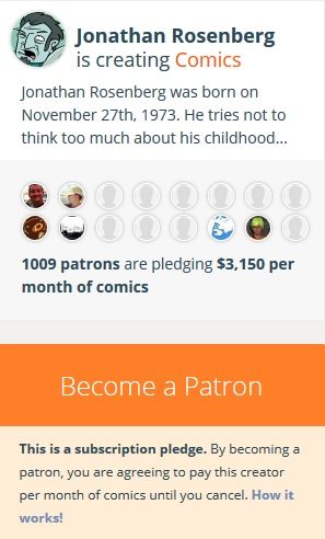 Patreon Crowdfunding Website