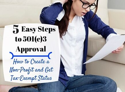 steps 501c3 form 1023 charity approval