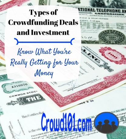 Types of Crowdfunding Deals and Investment