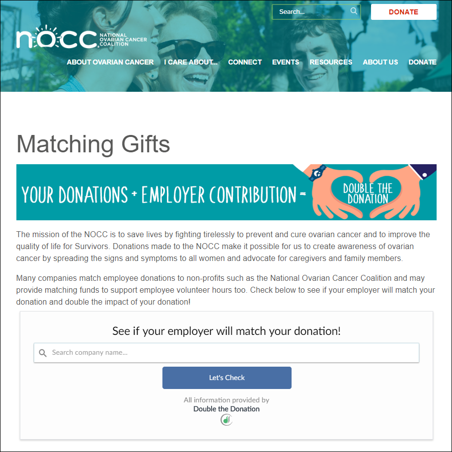 Double the Donation-NOCC-matching gifts page