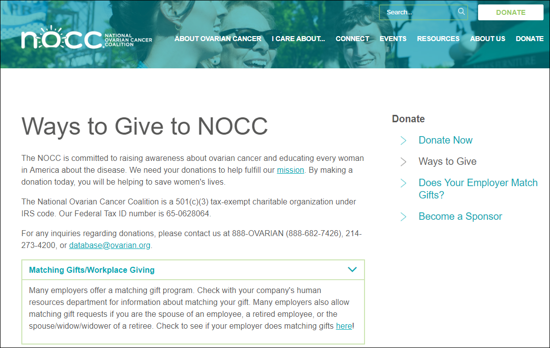Double the Donation-NOCC-ways to give