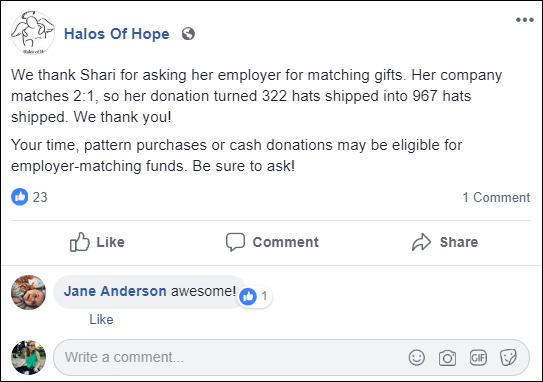 Double the Donation-Recognition for Matching Gifts