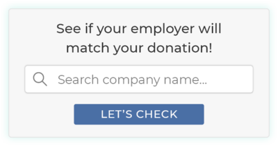 Use matching gifts as a quick fundraising idea to double your donations.
