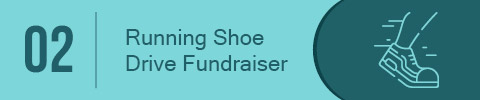 A running shoe drive fundraiser is the best school fundraising idea for schools with popular sporting events.