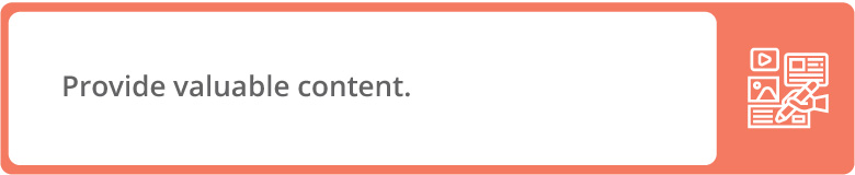 Valuable content is a donation page best practice.