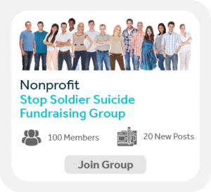This image shows an example Facebook fundraising group.